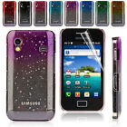 Crystal Series Rain Drop Hard Back Cover Clear Case for Samsung Galaxy Ace S5830