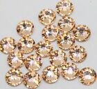 1440pc SS3-SS34 Champagne /LT.Peach Flatback Rhinestone Nail Art Decoration DIY
