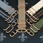 LocalTime Watch Strap Band Wrap Military 5 Ring SOLID BRONZE Many Colours, Sizes