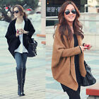 Women Batwing Sleeve Knitted Sweater Blouse Tops Cardigan Coat Jacket Outerwear
