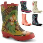 New Ladies Festival Waterproof Wellies Rubber Boots Rain Winter Sizes UK 3-8