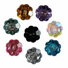 Acrylic Crystal Effect Flower Shape Buttons Size & Colour Choice