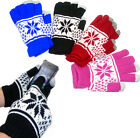 FESTIVE TOUCH SCREEN GLOVES MENS LADIES WINTER WARM iPAD iPHONE TABLET PHONE NEW