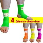 NEON ANKLE SUPPORTS OR ANKLETS (PAIRS) FOR MMA MARTIAL ARTS THAIBOXING