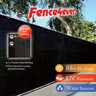 Black 6'x50' Fence Windscreen Privacy Screen Shade Cover Fabric Mesh Garden