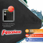 Black 8'x50' Fence Windscreen Privacy Screen Shade Cover Fabric Mesh Garden Tarp