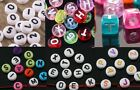 7 Variation 100-150pcs Mixed Acrylic Letter Spaer Beads Findings Round &Square