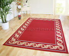 SMALL - EXTRA LARGE RED BEIGE TRADITIONAL CLASSIC SOFT CHEAP RUG MAT DISCOUNT