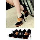 New Fashion Stiletto Women Sexy Black/Yellow High Heel Ankle Boots Shoes Dress