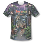 New Jurassic Park Movie T-Rex Welcome Picture ALL FRONT Sublimation T-shirt Top