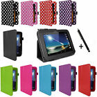 "For TESCO HUDL 7"" TABLET - PU LEATHER STAND FLIP CASE COVER WITH HOLDING STRAP"