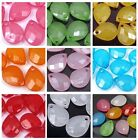 100 Transparent Acrylic Lucite Faceted Briolette Teardrop Beads - Choose Color