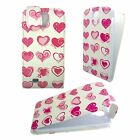 WHITE CASE WITH PINK HEARTS FLIP PU LEATHER CASE FOR SAMSUNG GALAXY S4 MINI