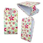 WHITE CASE RED AND GREEN FLOWERS FLIP PU LEATHER CASEFOR SAMSUNG GALAXY S4 i9500