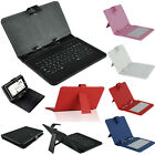 """New Micro USB Keyboard PU Leather Cover Stand Case for 9"""" inch Android Tablet PC"""