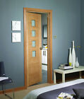 ENGINEERED OAK PALERMO INTERNAL 4 LIGHT OBSCURE GLAZED FIRE DOORS FD30