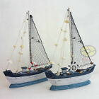 "Handbuilt WOOD MODEL 10"" Sailing Boat Tall Ship Sailer Home Nautical decor SZ14"