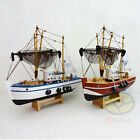 "Handbuilt WOOD MODEL 11"" Fishing Ship Boat Sailing Boat Yawl Nautical decor SZ17"