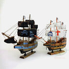 "WOOD MODEL 15.3"" PIRATE SHIP Sailing Boat Corsair Tall Ship Nautical decor SZ19"