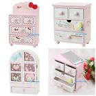 JAPAN SANRIO HELLO KITTY MY MELODY LITTLE TWINS STAR WOODEN JEWELRY BOX