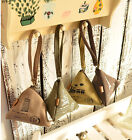 HOAU Cute Triangle Canvas Wallet Change Purse Coin Key Mini Buckle Pouch Handbag