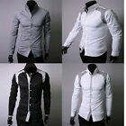 PJ Men's 2014 Casual Slim Fit Handsome Stylish Dress Shirts 4 Size S~XL