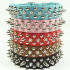 NEW Spiked Studded Rivets Leather Dog Collar Pet Collar Necklace Size XS S M L
