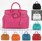 Women Fashion Celebrity PU Leather Tote Handbag Lock Shoulder Satchel Party Bag