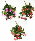 Artificial Flowers Fuchsia Trail Hanging Basket Bush 50cm Memorial Fuschia