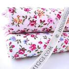 LILLIAN -  TINY VINTAGE FLORAL 100% COTTON FABRIC shabby chic PINK  WHITE