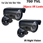 1/2/4/8x Waterproof Night Vision CCTV Security Colour Outdoor Camera Cam 700TVL