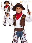 Boys Kids Cowboy Outfit Fancy Dress Costume Rodeo Wild West Age 3 4 5 6 7 8 9 10