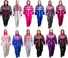New Unisex Mens Womens Ladies Aztec Onesie Jumpsuit All In One Hooded Tracksuits