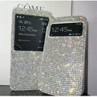 Bling Diamond View Leather Case Cover For iphone7 6S Samsung Note 7 5 S7 Edge