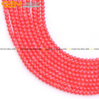 "Round pink coral jewelry making gemstone beads 15"" 2/3/4/6/8/10/12/13-14mm pick"