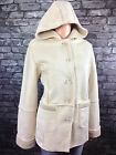 tommy & kate GORGEOUS WARM HOODED CREAM FLEECE LINED COAT PARKA 14 16 18 20 22