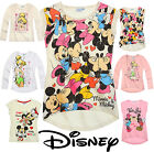 Girls Disney T Shirt Kids Top Minnie Mouse Short Long Sleeve New Age 2-10 Yrs