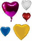 "5 x HEART BIRTHDAY VALENTINE WEDDING PARTY LARGE FOIL HELIUM BALLOONS 18"" 45cm"