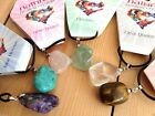 CRYSTAL TUMBLESTONE NECKLACE GEMSTONE NEW AGE JEWELLERY WICCA PAGAN HEALING
