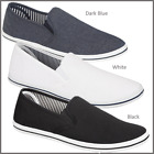 MENS BOYS SLIP ON CANVAS ESPADRILLES PUMPS PLIMSOLLS BEACH CANVAS TRAINER SHOES