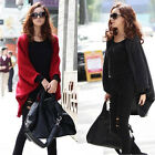Winter Women Casual Batwing Cardigan Shawl Knit Autumn Coat Jacket Sweater Wool