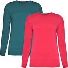 Womens Jumper Ladies Sweater Sweatshirt Crew Neck Long Sleeve New Plus Size 6-24
