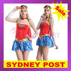 Superhero Superwoman Wonder Woman Halloween Cosplay Fancy Dress Costume Outfit