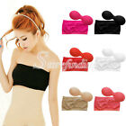 New Womens Strapless Top Bandeau Padded Bra Boob Tube Removable Pads