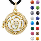 Angel Caller Gold Flower Cage Musical Bola Pendant Pregnancy Necklace Sounds H39