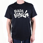 AS SEEN IN THE SOPRANOS T SHIRT - BADA BING! LOGO FREE UK POSTAGE CULT TV !