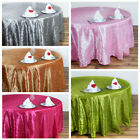 "12 pcs 132"" ROUND Pintuck Fancy TABLECLOTHS Wholesale Wedding Party Linens SALE"