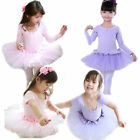 Girls Gymnastics Ballet Tutu Dancing Dress Leotard 3-8Y Party Costume Dancewear