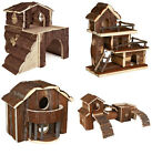 Trixie Natural Living Cage Accessories - Wooden House, Rabbits, Ferrets, Hamster