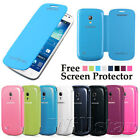 FLIP LEATHER BACK BATTERY CASE COVER FOR SAMSUNG GALAXY S4 MINI I9190 FREE FILM